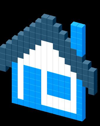 ein stilisiertes Haus als Logo